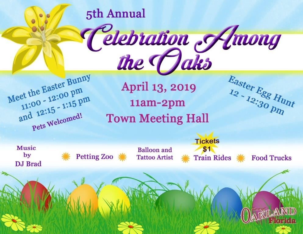 Celebration Among the Oaks Flyer 2019
