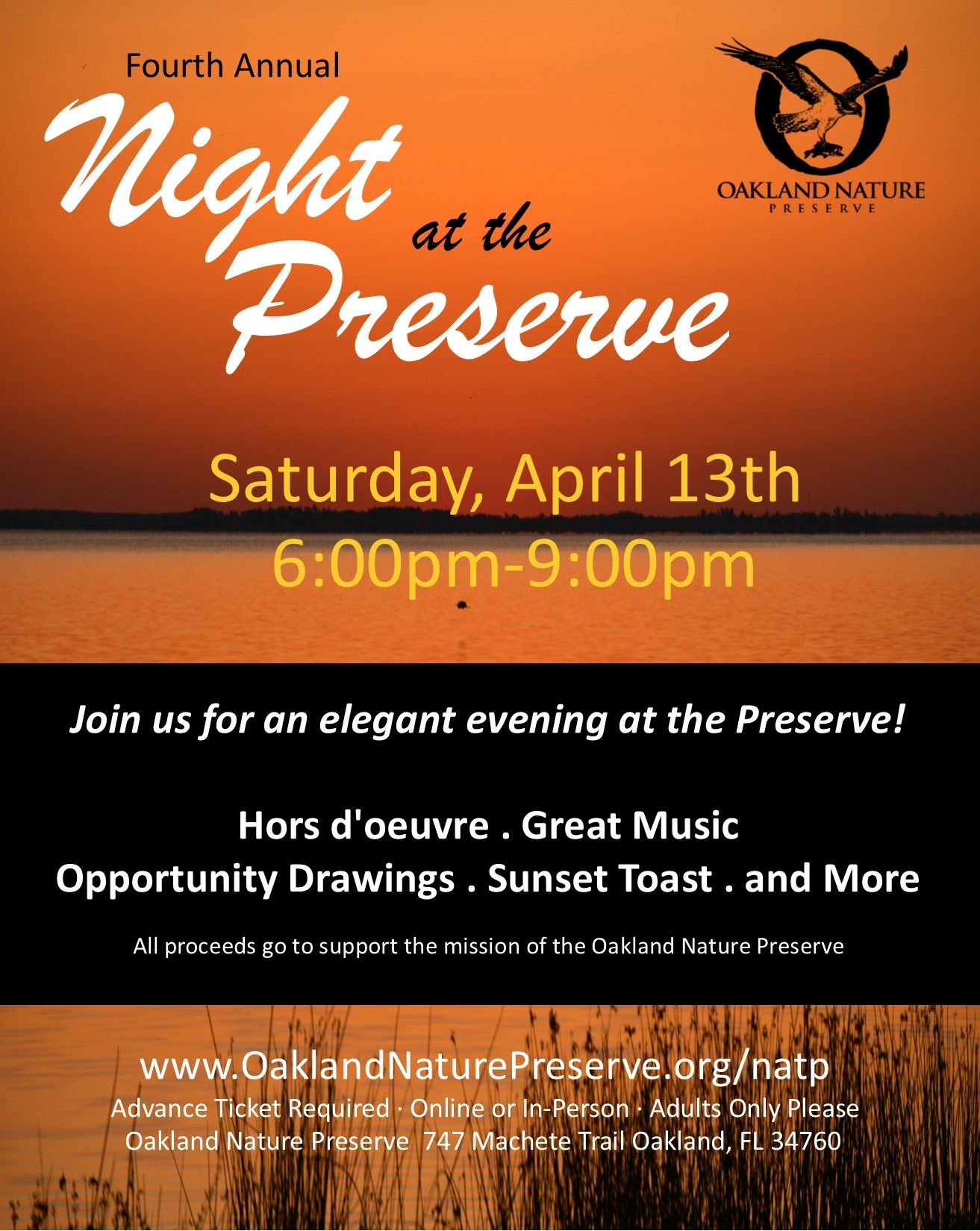 Night at the Preserve Flyer