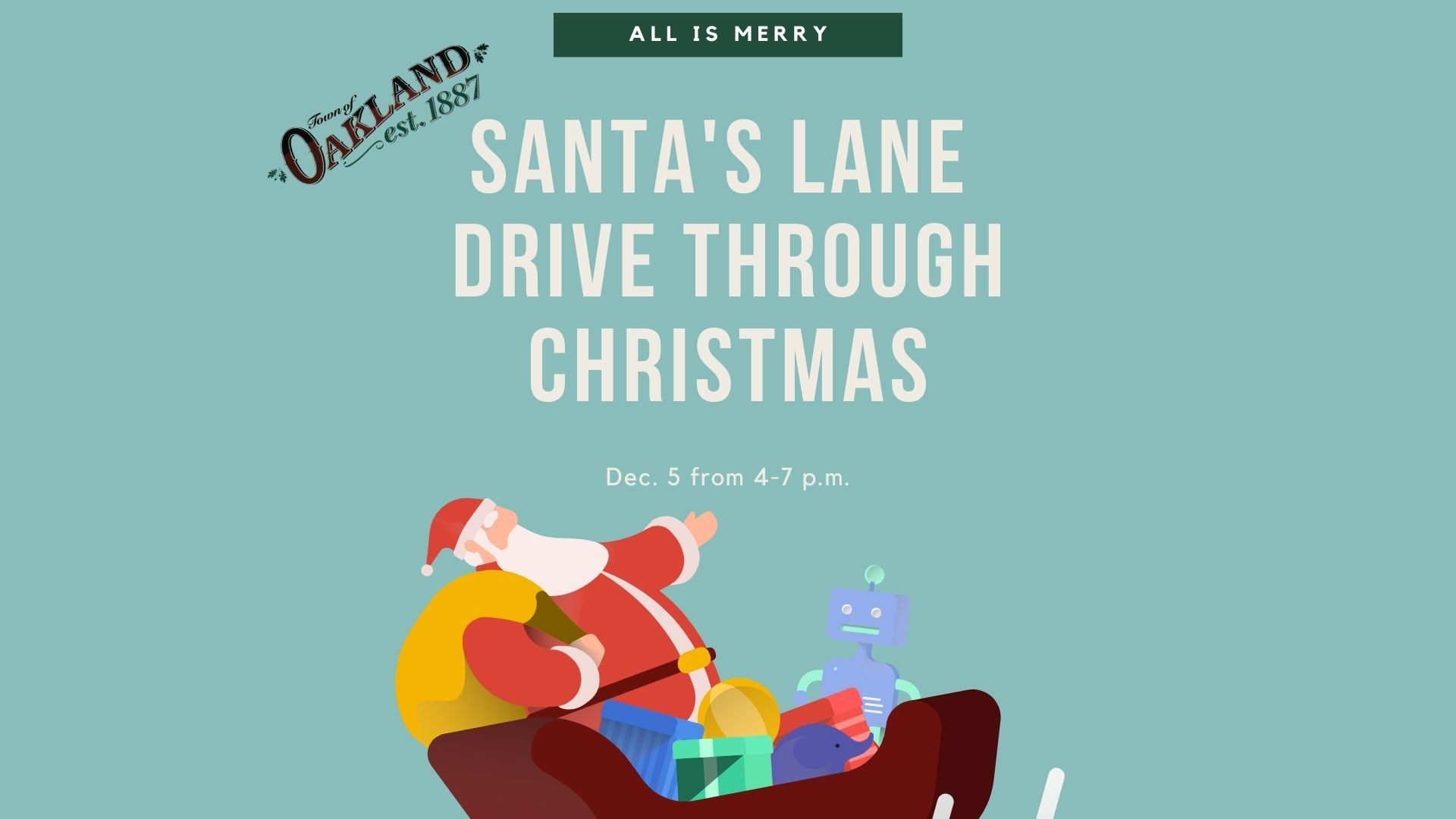 Sant's Lane Drive through Christmas flyer
