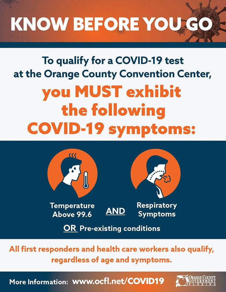 Orange County Convention Center Testing April 1